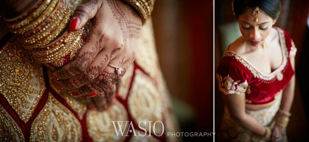 00-Indian-wedding-chicago-rosemont-details-bride Indian Wedding at Rosemont Convention Center - Arya and Arpit