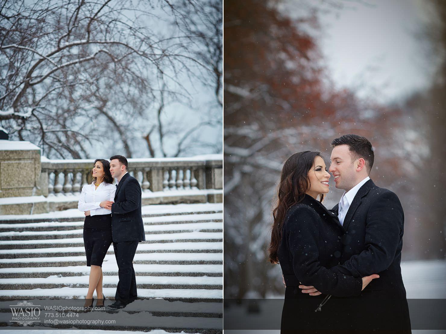 006-Chicago-Winter-Engagement Chicago Winter Engagement - Chrissy + Andrew
