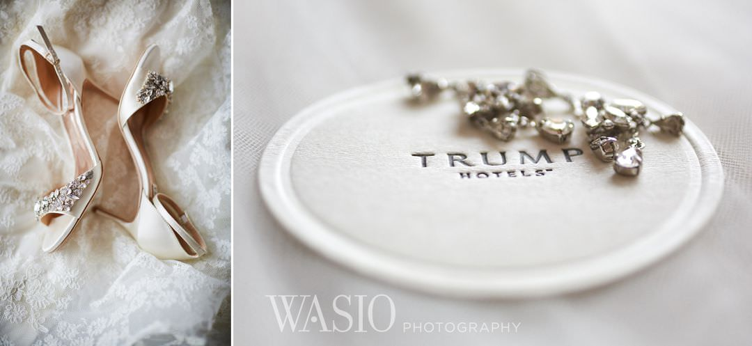 02-chicago-trump-tower-wedding-river-shoes-details Chicago River Roast Wedding - Joanna + Mateusz