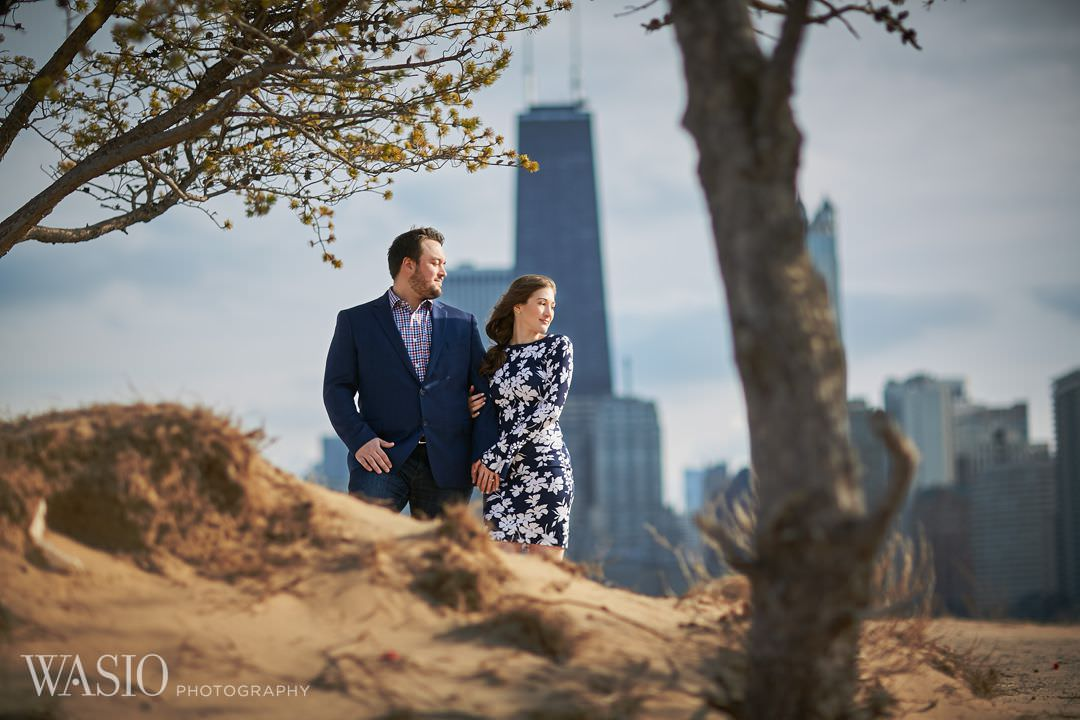 03-Chicago-engagement-skyline-downtown Spring Engagement session - Stephanie + Zach