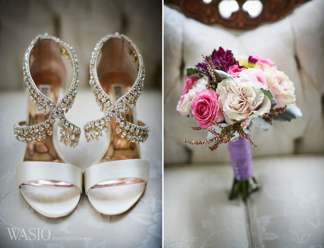 05-greek-wedding-chicago-badgley-mischka-heels Chicago Greek Wedding - Christina and Chronis