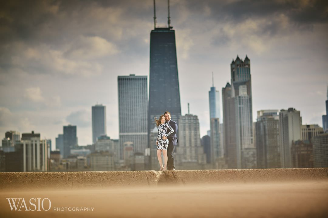 06-Beach-Chicago-engagement-photographer Spring Engagement session - Stephanie + Zach