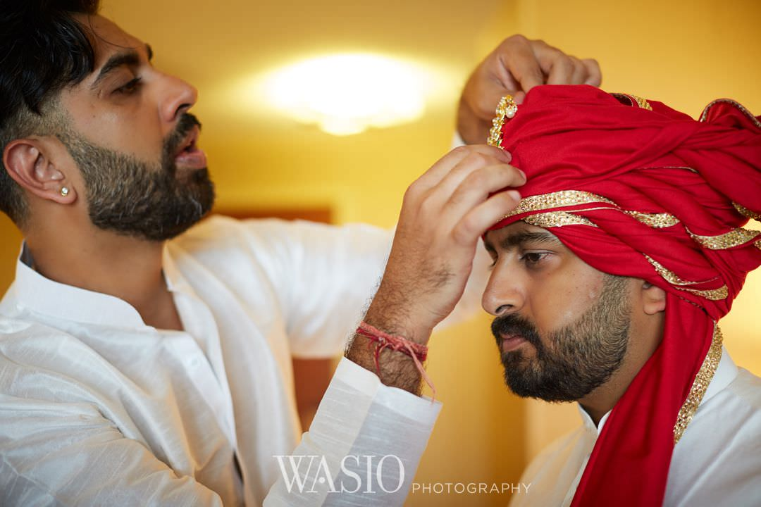 06-Indian-wedding-chicago-rosemont-groom-preparation Indian Wedding at Rosemont Convention Center - Arya and Arpit