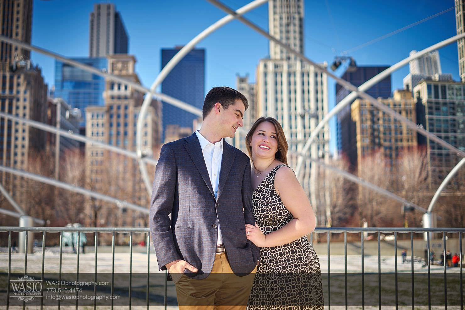 09_Chicago-Winter-Engagement-Pritzker-Pavilion_Erika-Justin_DSC02470 Chicago Winter Engagement -  Erika & Justin