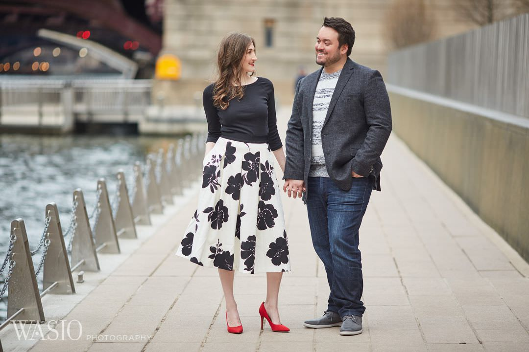 10-Chicago-engagement-riverfront Spring Engagement session - Stephanie + Zach