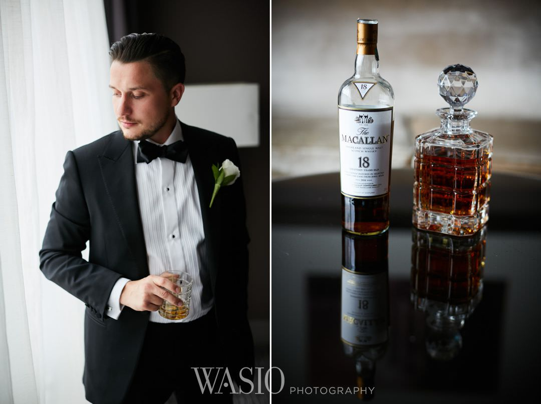 12-chicago-trump-tower-wedding-river-whiskey-details-groom Chicago River Roast Wedding - Joanna + Mateusz