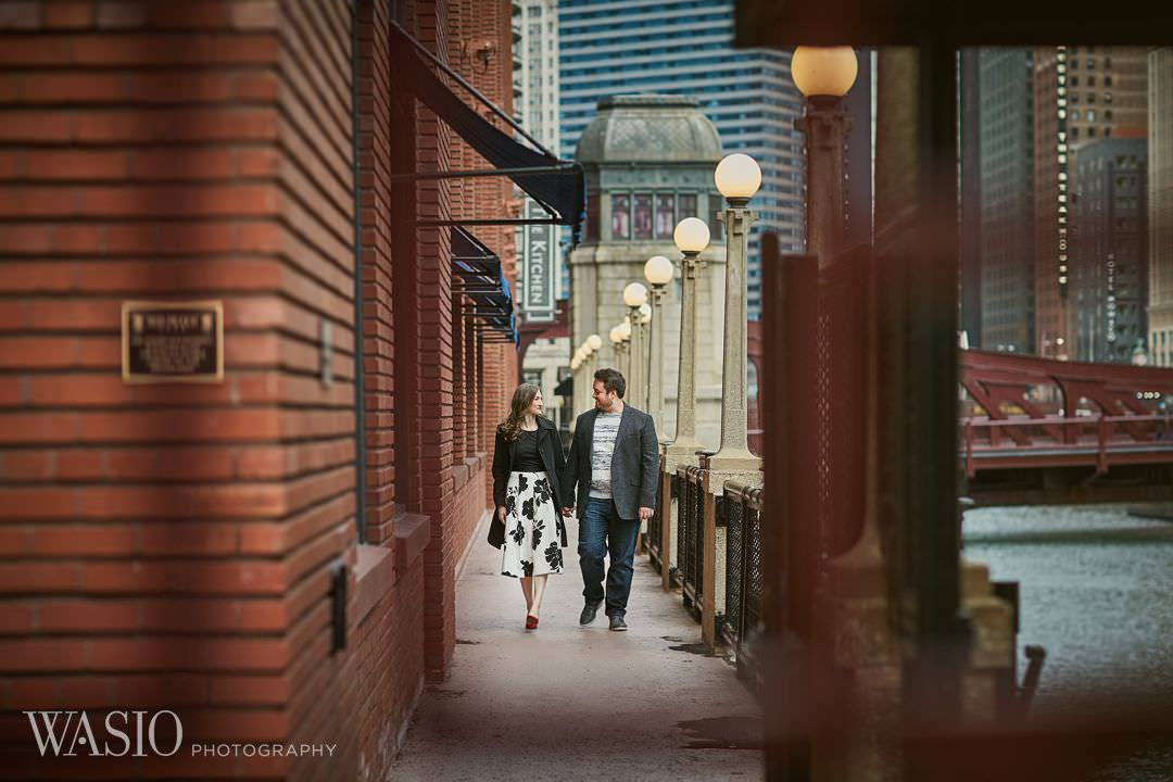 13-Chicago-engagement-river-roast-restaurant Spring Engagement session - Stephanie + Zach