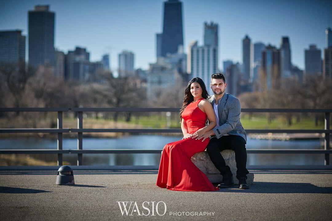 14-chicago-engagement-sunrise-elegant-skyline Chicago Sunrise Engagement Session - Sara + Peter