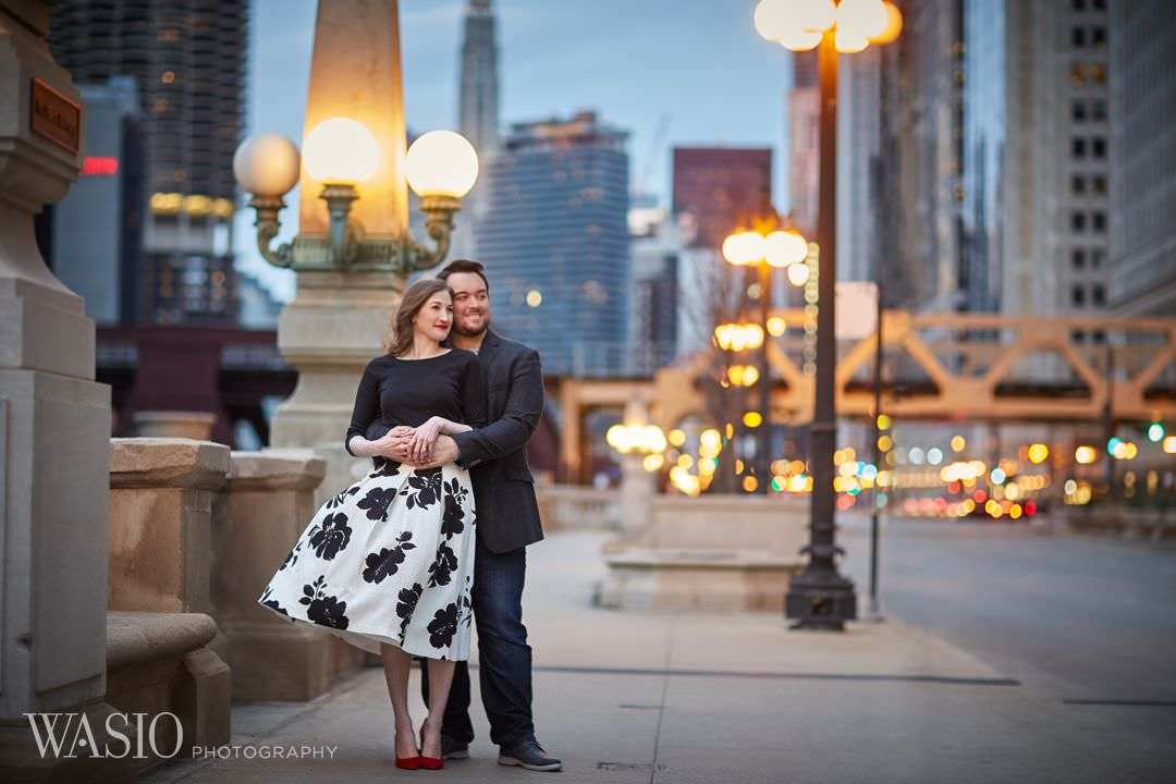 15-Chicago-engagement-best-photographer-night Spring Engagement session - Stephanie + Zach