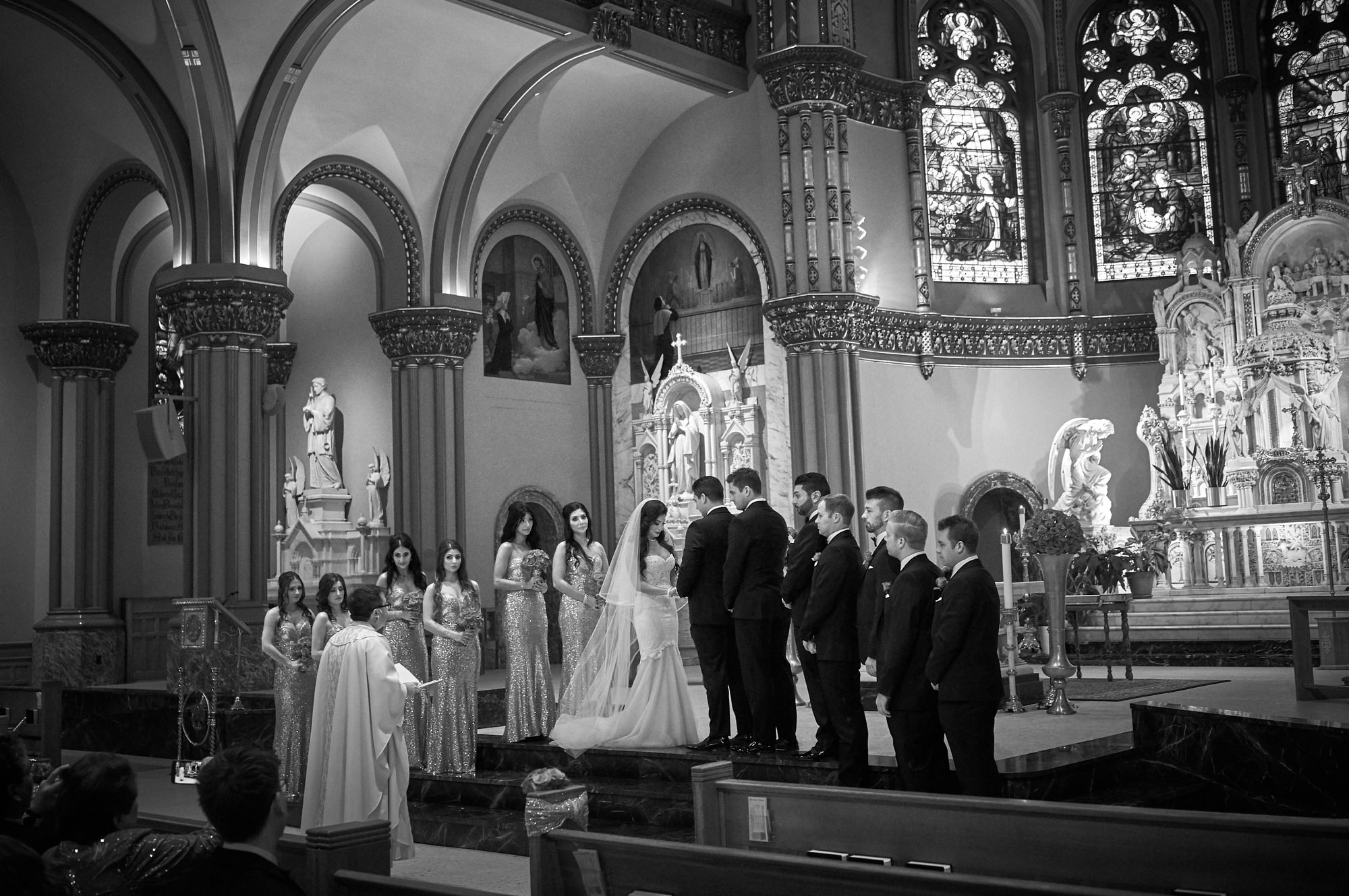 15.1-depaul-wedding-church-i-do Knickerbocker Hotel, Chicago Wedding - Magdalynn + Joseph