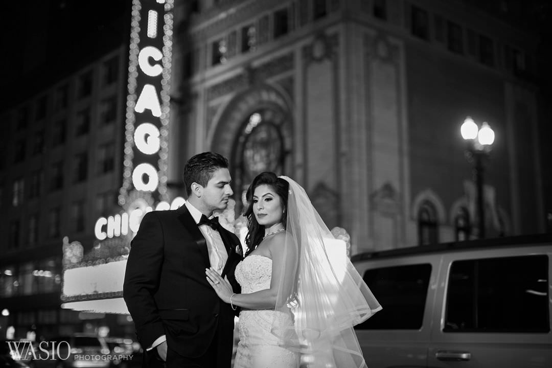 22-chicago-theater-wedding-portrait-elegant Knickerbocker Hotel, Chicago Wedding - Magdalynn + Joseph