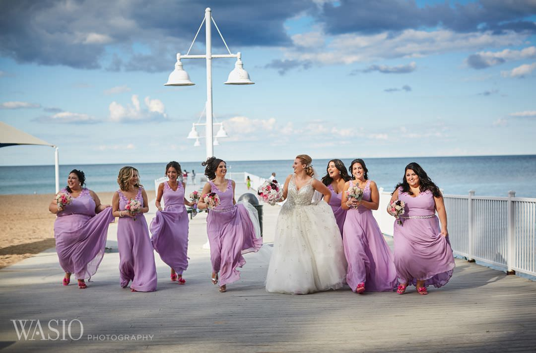 25-greek-wedding-chicago-beach-fun-bridesmaids Chicago Greek Wedding - Christina and Chronis
