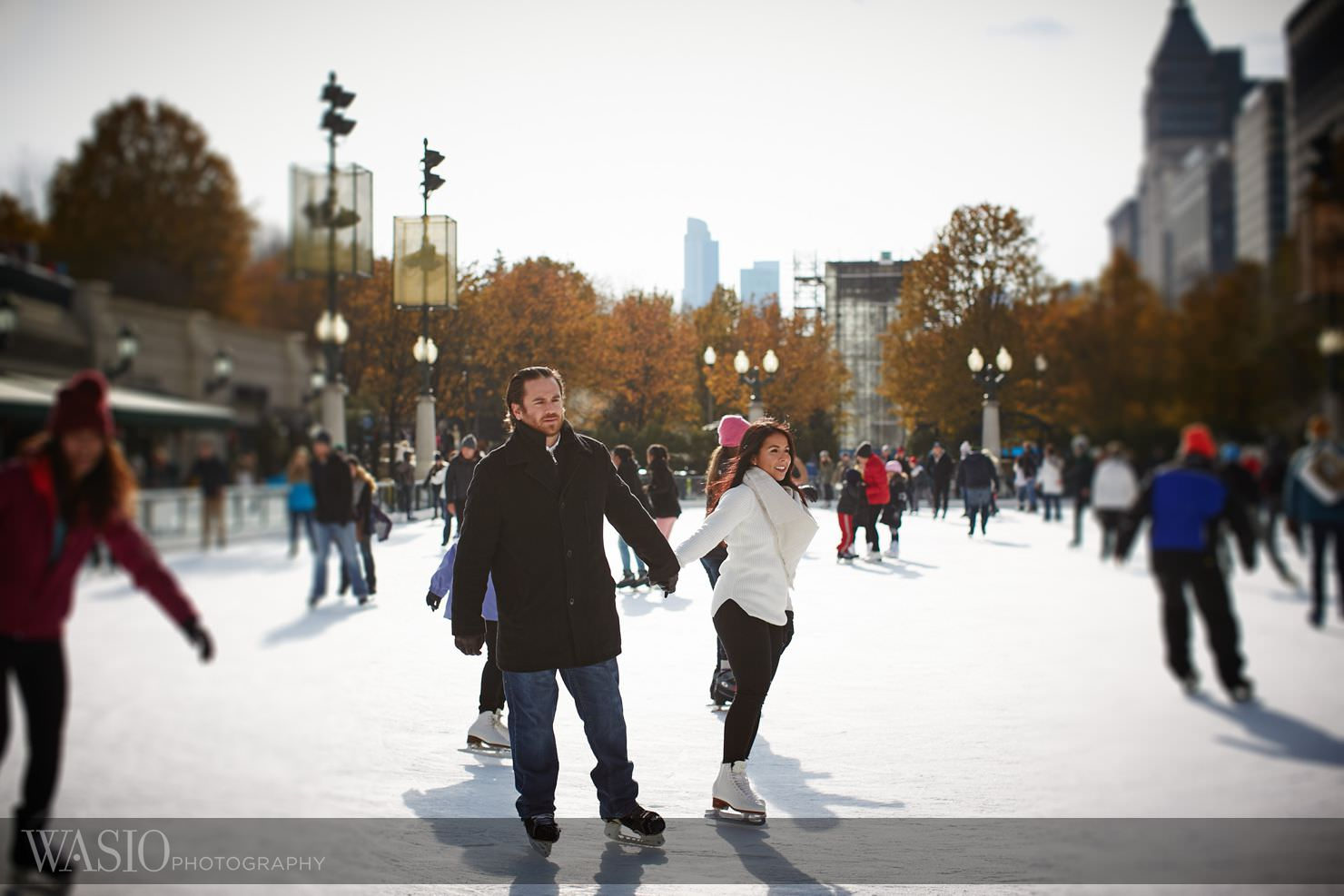 2_Chicago-Winter-Engagement-winter-chicago-skating__O3A9645 Chicago Winter Engagement Photos - Ingrid and Peter
