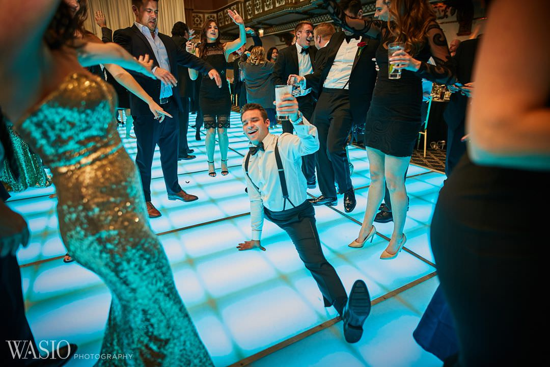 30-party-fun-hotel-ballroom-chicago-knickerbocker Knickerbocker Hotel, Chicago Wedding - Magdalynn + Joseph