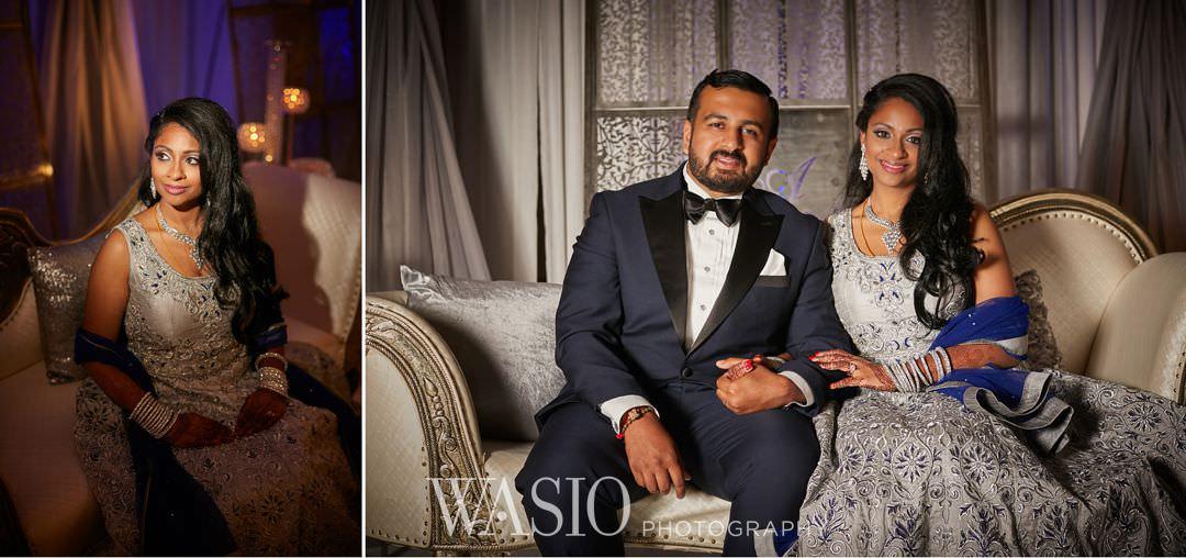 34-Indian-wedding-chicago-rosemont-bride-groom Indian Wedding at Rosemont Convention Center - Arya and Arpit