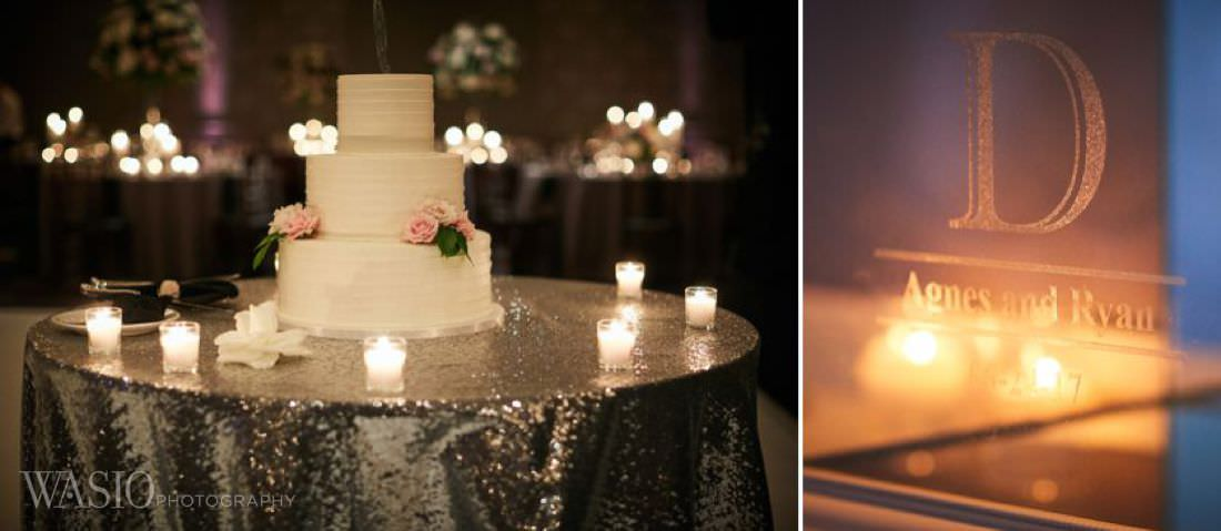 40-The-Estate-Wedding-chicago-details-cake-candle-decoration The Estate by Gene and Georgetti Wedding - Agnes and Ryan
