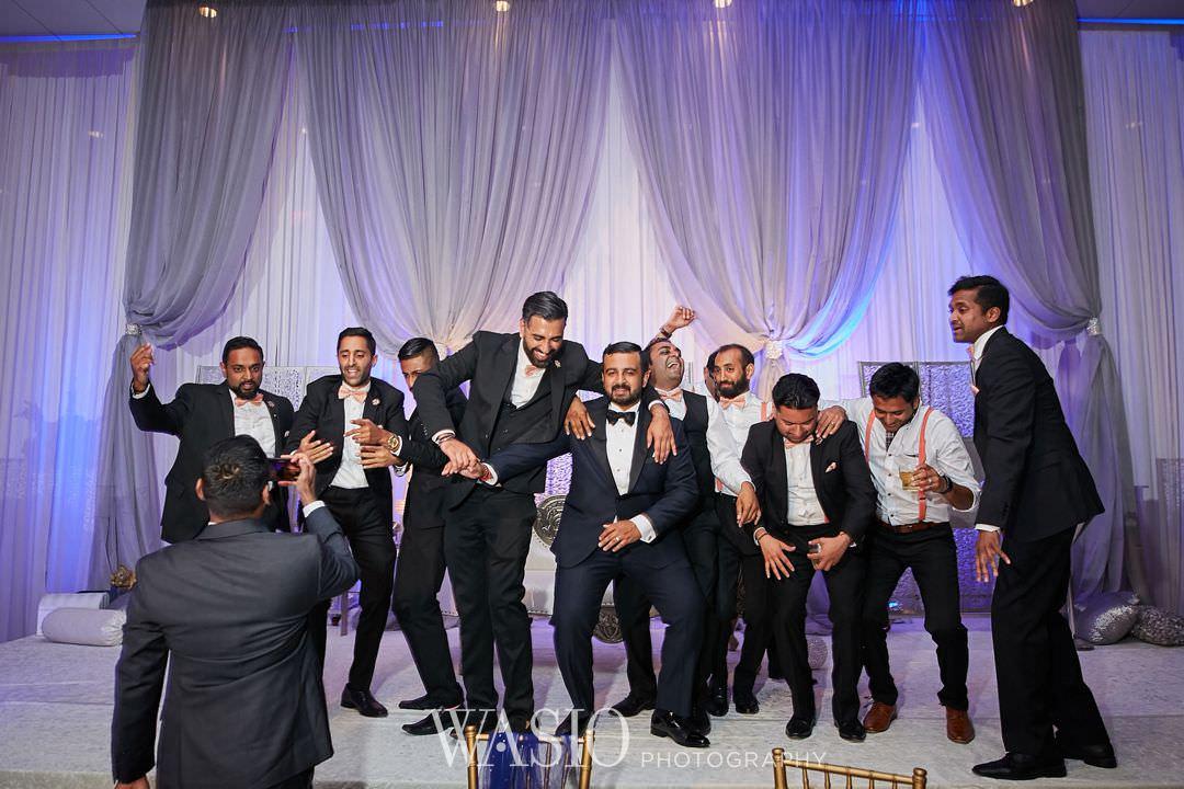 45-Indian-wedding-chicago-rosemont-groom-dance-fun Indian Wedding at Rosemont Convention Center - Arya and Arpit