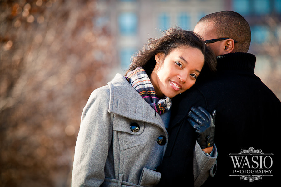 Chicago Millennium Park Engagement Session with Lakisha & Alex