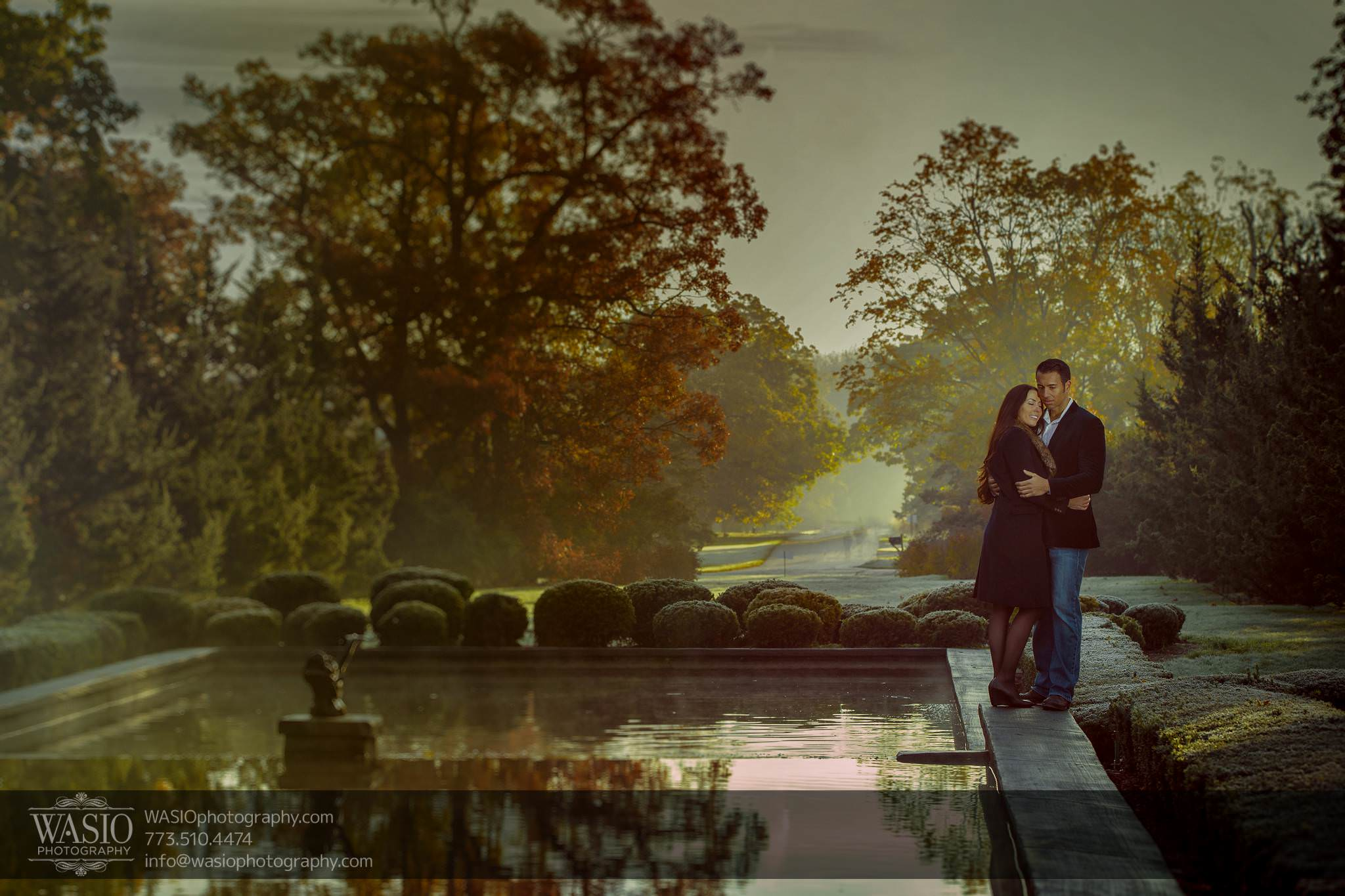 Cantigny Garden Engagement – Carol + Paul