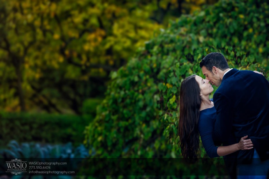 Cantigny-Garden-Engagement-passion-kiss_82-931x620 Cantigny Garden Engagement - Carol + Paul