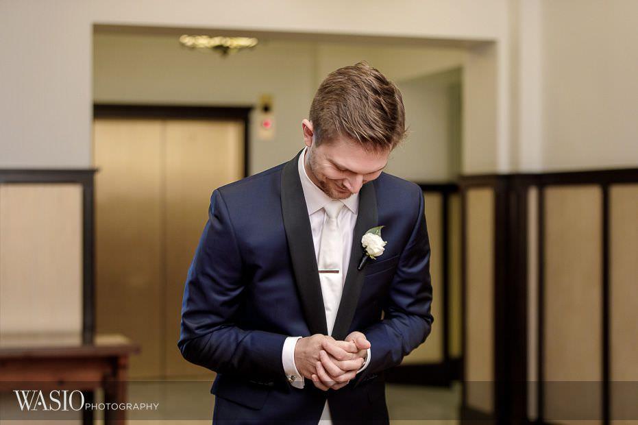 Chicago-Athletic-Association-Wedding-anticipation-first-look-moment-134 Chicago Athletic Association Wedding - Allison and Clayton