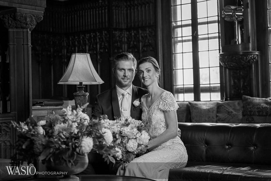 Chicago-Athletic-Association-Wedding-black-white-portrait-photography-lobby-123 Chicago Athletic Association Wedding - Allison and Clayton