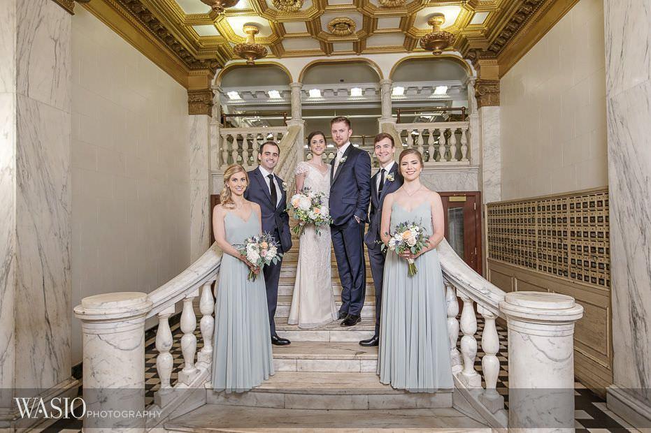 Chicago-Athletic-Association-Wedding-bridesmaids-groomsmen-portrait-122 Chicago Athletic Association Wedding - Allison and Clayton