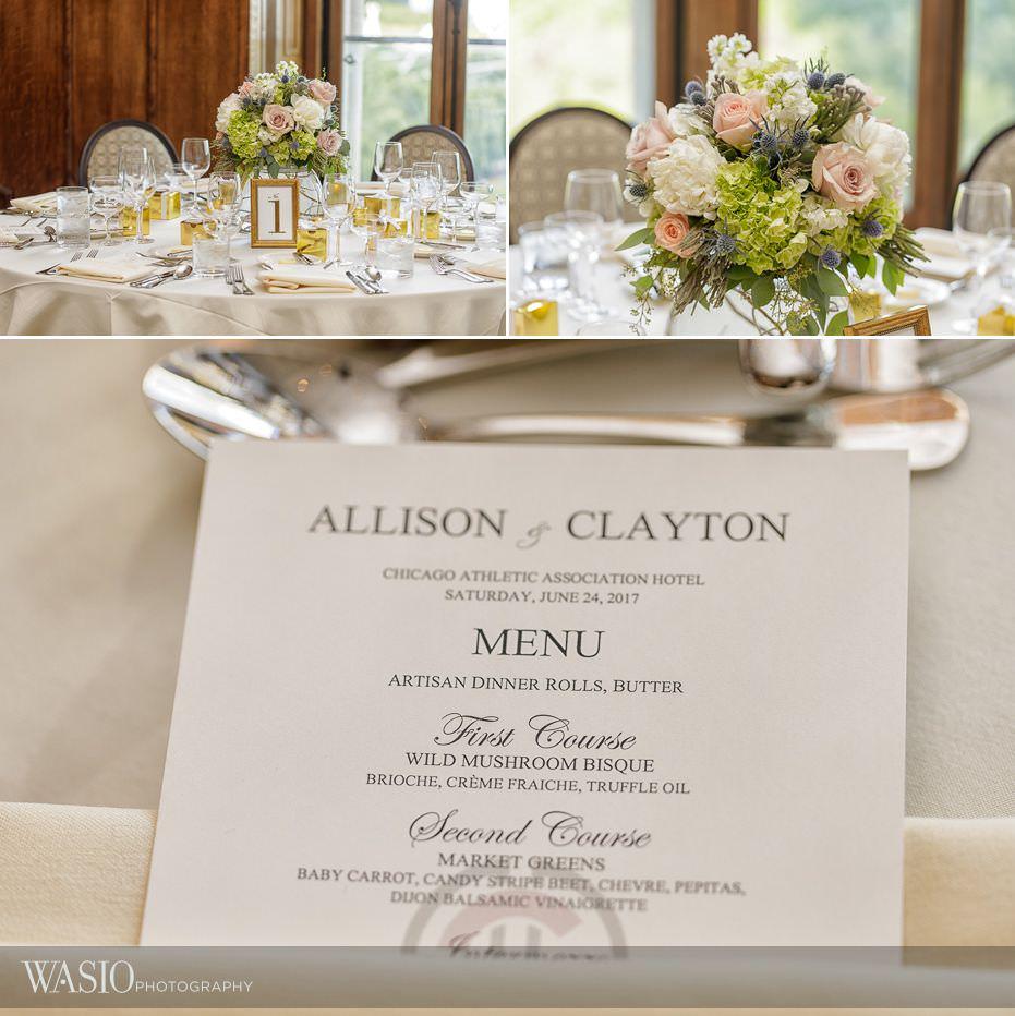 Chicago-Athletic-Association-Wedding-reception-detail-decor-special-food-menue-104 Chicago Athletic Association Wedding - Allison and Clayton