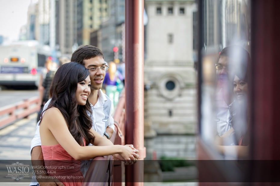 Chicago-Destination-Engagement-romantic-reflection-111-931x620 Chicago Destination Engagement - Mai + PJ