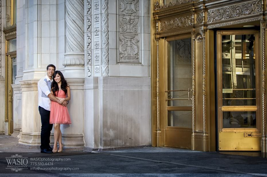 Chicago-Destination-Engagement-wrigley-building-golden-door-115-931x620 Chicago Destination Engagement - Mai + PJ