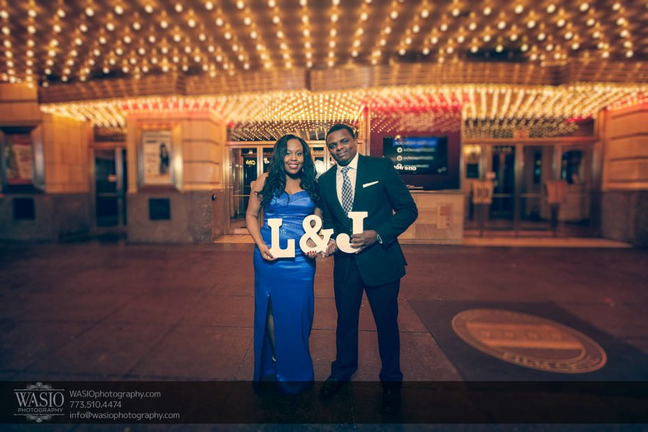 Chicago-Engagement-Pictures-theater-lights-letters_77-931x620 Chicago Engagement Pictures - Laura + James