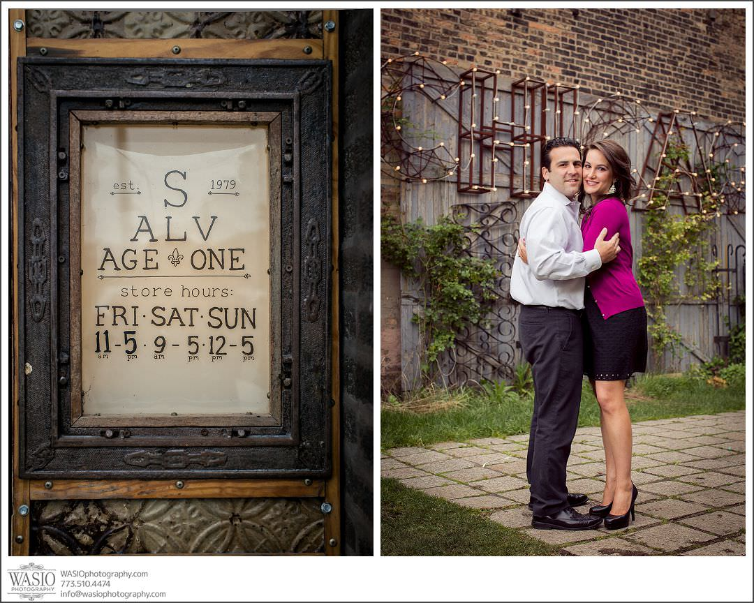 Salvage One Chicago – Vintage Engagement Session {Stephanie & Dominick}
