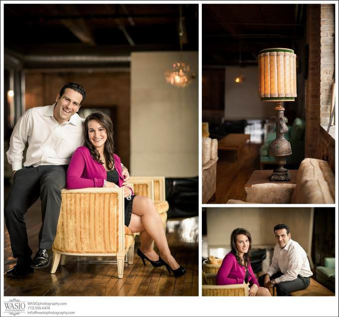 Chicago-Engagement-spring-indoor-33-680x636 Salvage One Chicago - Vintage Engagement Session {Stephanie & Dominick}