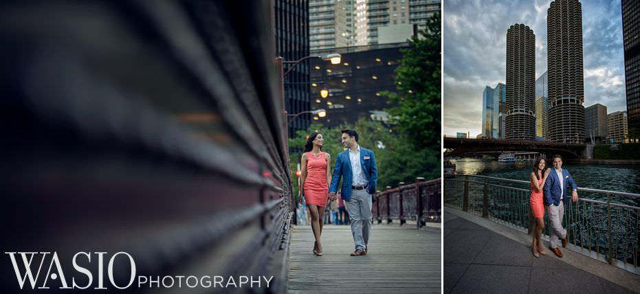 Chicago-Indian-Engagement-session-wabash-bridge-corn-towers-skyline-7 Chicago Indian Engagement Session - Reeya & Aman