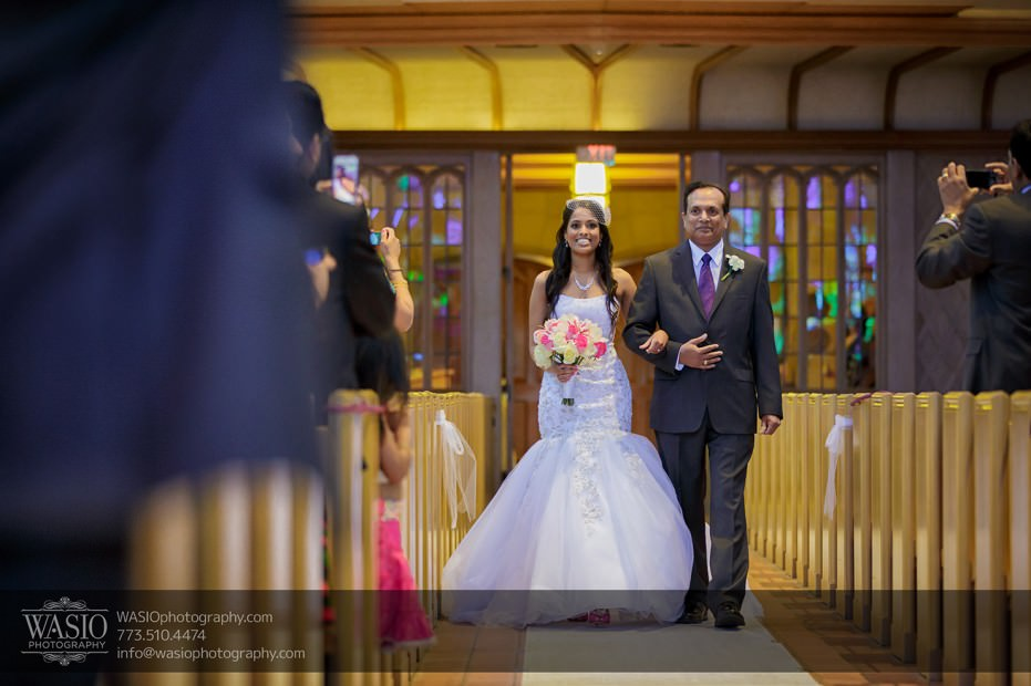 Chicago-Indian-photograpy-church-chapel-ceremony-father-daughter-joy-aisle-019-931x620 Chicago Indian Wedding  - Cheryl + Brian