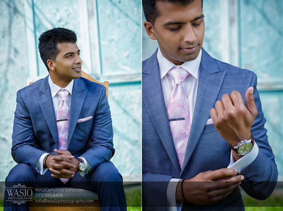 Chicago-Indian-wedding-photograpy-Groom-Preparation-Handsome-Happy-Watch033-931x696 Chicago Indian Wedding  - Cheryl + Brian