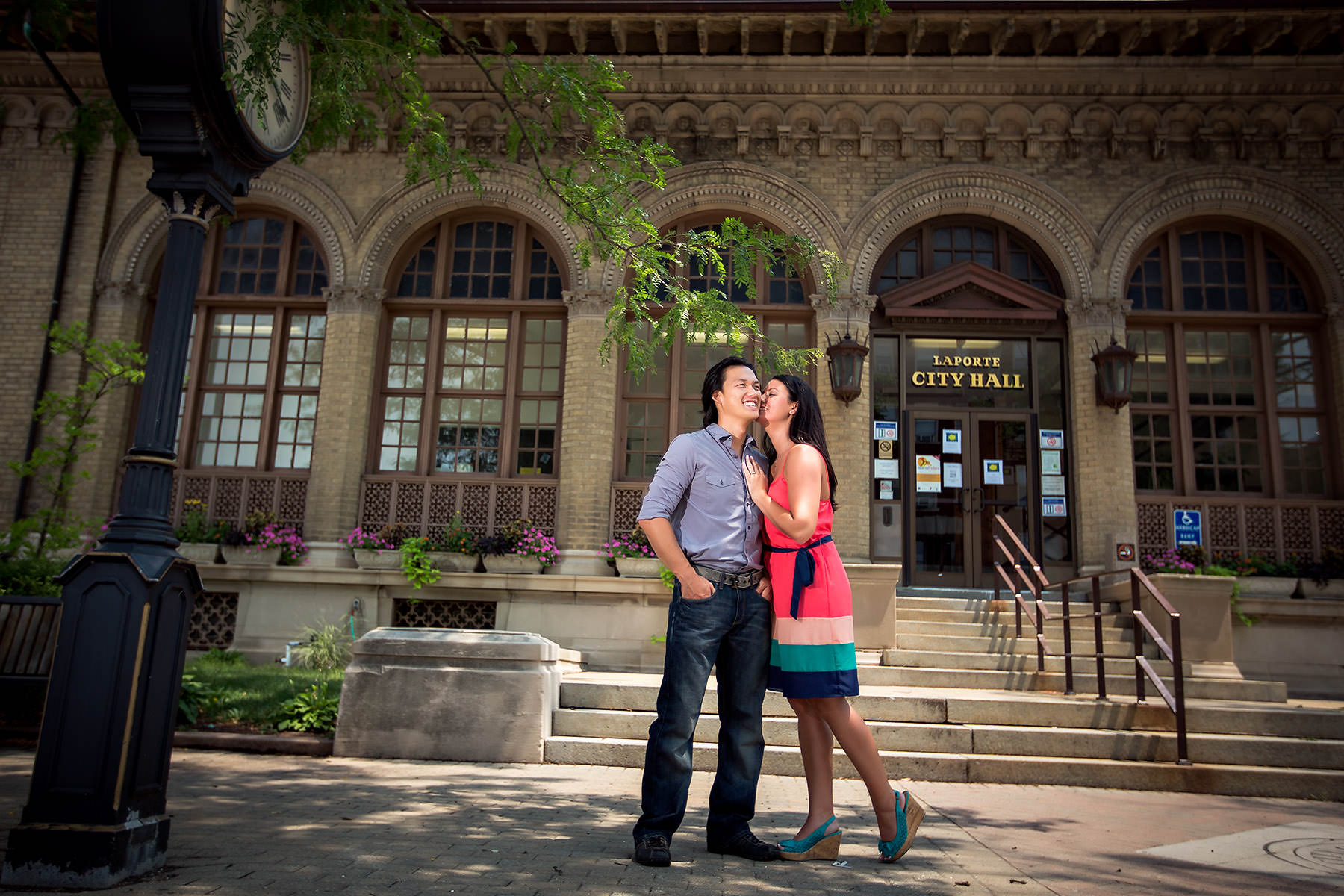 La Porte fun Indiana engagement photography session – Natalie + Jae