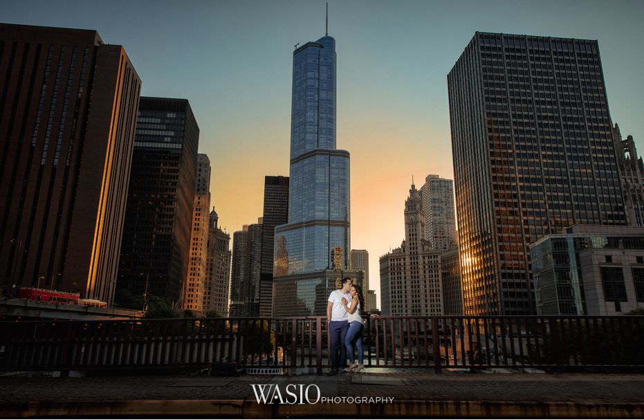 Chicago-San-Diego-La-Jolla-Southern-California-Riverwalk-Engagement-skyline-sunset-romance-blog-9 Chicago Riverwalk Engagement - Arsiak and Amir