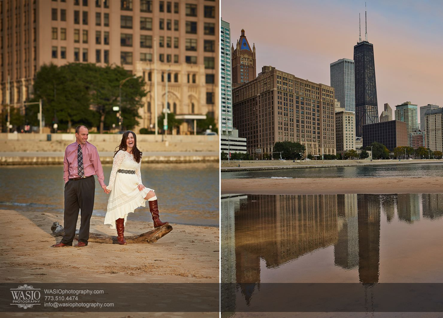 Chicago-Sunset-Engagement_003 Chicago Sunrise Engagement, Lauren & David