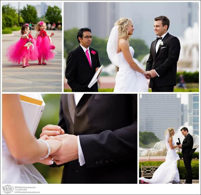 Chicago-Wedding-Grant-Park-Tiffay-Garden-Ceremony-680x660 Shedd Aquarium Wedding & Grant Park's Tiffany Garden - Julie & Caleb