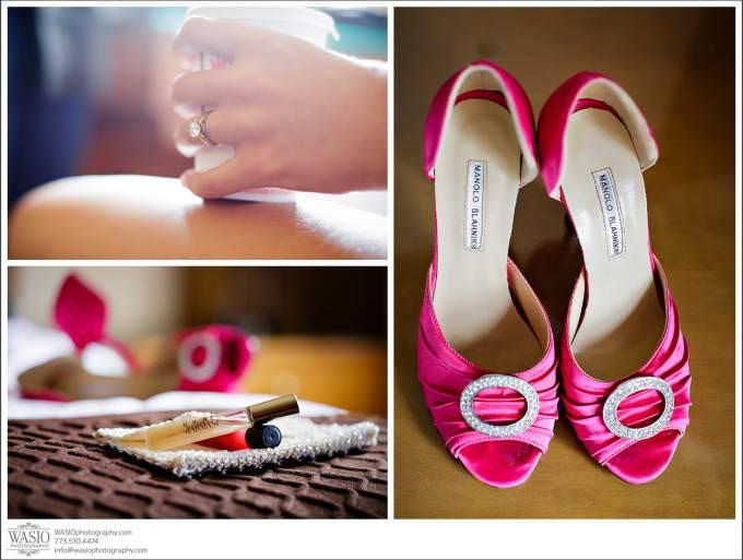 Chicago-Wedding-Manolo-Blahnik-shoes_038-680x513 Shedd Aquarium Wedding & Grant Park's Tiffany Garden - Julie & Caleb