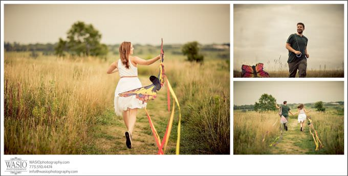 Chicago-Wedding-Photographer_126-prop-kite-bride-running-outdoor-680x344 Illinois Engagement Photography Session - Shannon + Keith