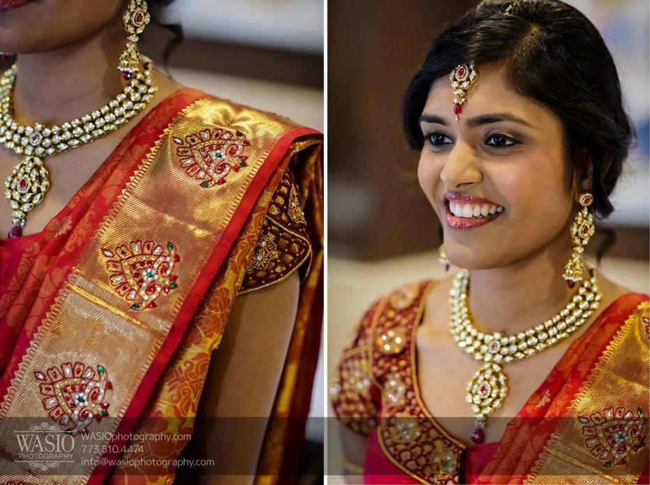 Chicago-Wedding-Photography-South-Asian-Indian-Wedding-0171-handmade-silk-sari-bride-getting-ready-931x695 South Asian Indian Wedding at JW Marriott - Shreya + Monil