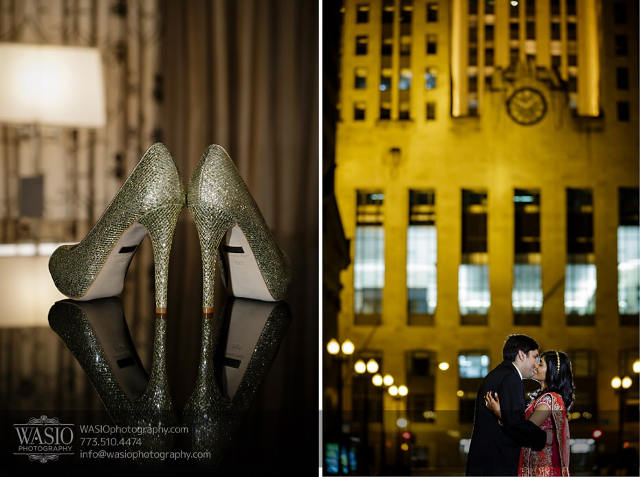 Chicago-Wedding-Photography-South-Asian-Indian-Wedding-0261-romantic-portrait-LaSalle-Board-of-Tade-931x695 South Asian Indian Wedding at JW Marriott - Shreya + Monil