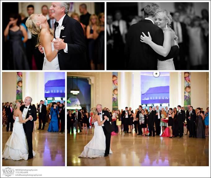 Chicago-Wedding-Photography-bride-father-dance-Shedd-photojournalistic-680x575 Shedd Aquarium Wedding & Grant Park's Tiffany Garden - Julie & Caleb