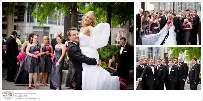 Chicago-Wedding-Photography-river-walk-modern-portraits-680x340 Shedd Aquarium Wedding & Grant Park's Tiffany Garden - Julie & Caleb