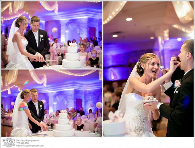 Chicago-Wedding-Photography_220-wedding-cake-cutting-680x516 Chicago Wedding Photography - Natalia + Michal