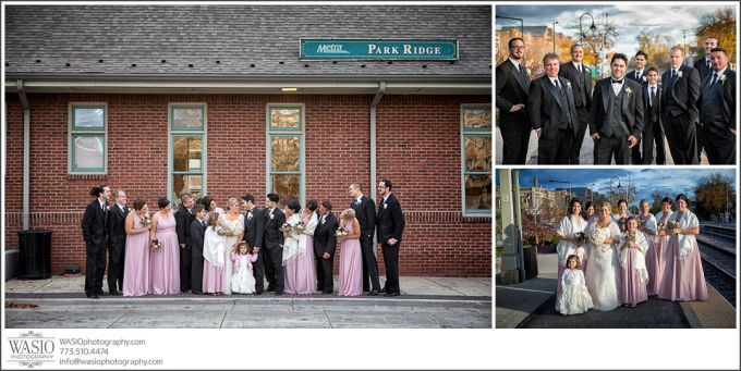Chicago-Wedding-Photography_377-fun-wedding-party-park-ridge-metra-station-680x341 Romantic Wedding Story - Jessie + Anthony