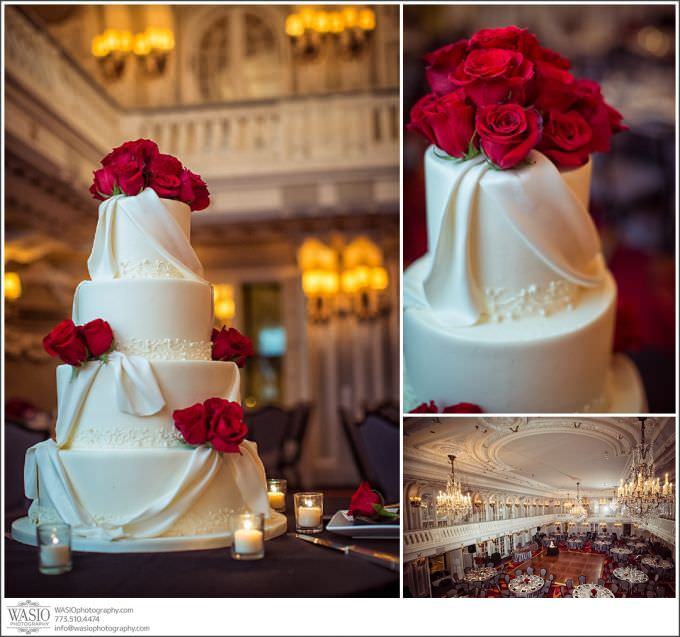 Chicago-Wedding-Photography_403-wedding-cake-red-roses-blackstone-hotel-680x637 Chicago Wedding at Blackstone Hotel - Jody + Mike