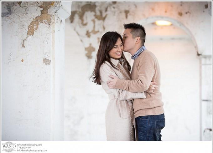 Chicago-Wedding-Photography_433-romantic-engagement-kiss-680x489 Chicago Engagement Photography Session - Soy + Patrick